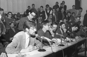 Protest meeting in Nijmegen 1969